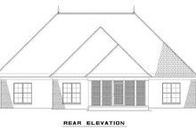 European Exterior - Rear Elevation Plan #17-2488