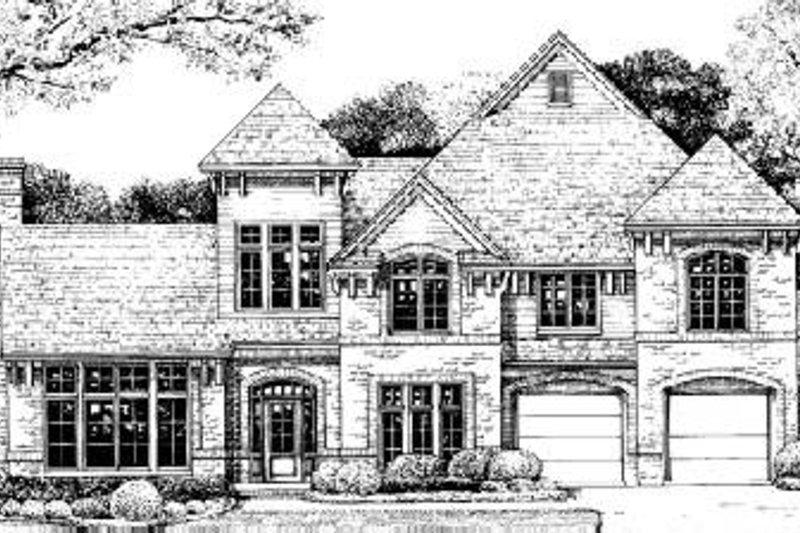 House Plan Design - European Exterior - Front Elevation Plan #20-921