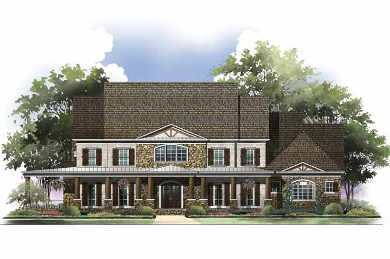 Colonial Exterior - Front Elevation Plan #119-412 - Houseplans.com