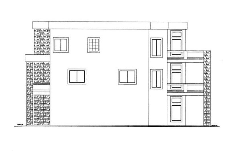 Contemporary Exterior - Other Elevation Plan #117-862 - Houseplans.com