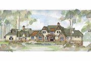 Country Style House Plan - 4 Beds 3 Baths 4970 Sq/Ft Plan #928-24 Exterior - Front Elevation