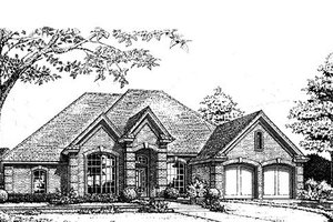 European Exterior - Front Elevation Plan #310-789