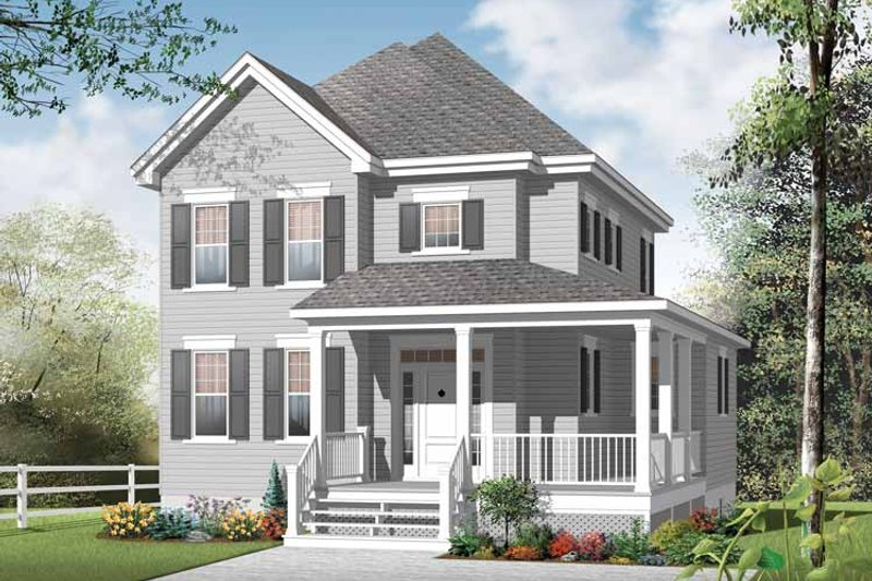 Country Exterior - Front Elevation Plan #23-2549