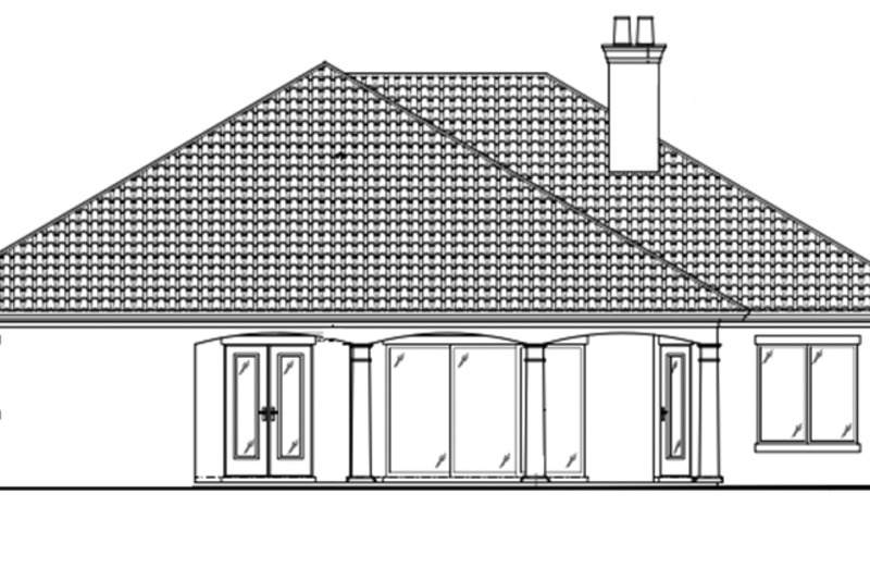Country Exterior - Rear Elevation Plan #938-48 - Houseplans.com