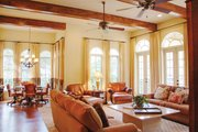 Mediterranean Style House Plan - 3 Beds 4.5 Baths 4509 Sq/Ft Plan #1058-14 Interior - Family Room