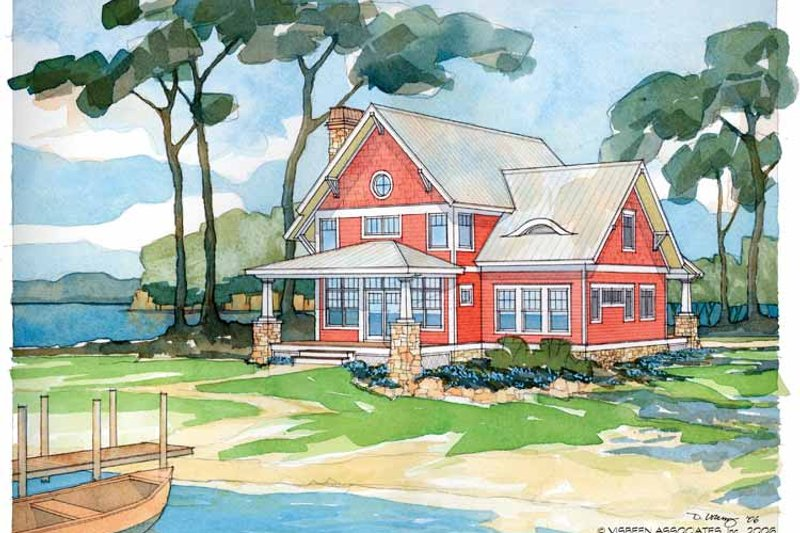 Traditional Exterior - Front Elevation Plan #928-17 - Houseplans.com