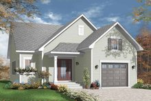House Plan Design - Craftsman Exterior - Front Elevation Plan #23-2381