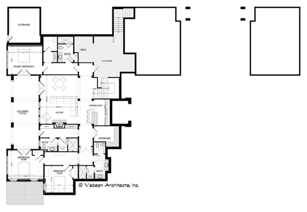 Ranch Floor Plan - Lower Floor Plan Plan #928-293