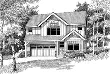 Traditional Exterior - Front Elevation Plan #53-579