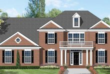Home Plan - Colonial Exterior - Front Elevation Plan #1053-48