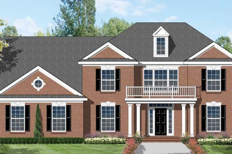 Colonial Exterior - Front Elevation Plan #1053-48 - Houseplans.com
