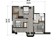 Contemporary Style House Plan - 3 Beds 1 Baths 1736 Sq/Ft Plan #25-4416 Floor Plan - Upper Floor Plan