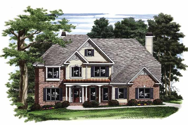 Traditional Exterior - Front Elevation Plan #927-489 - Houseplans.com