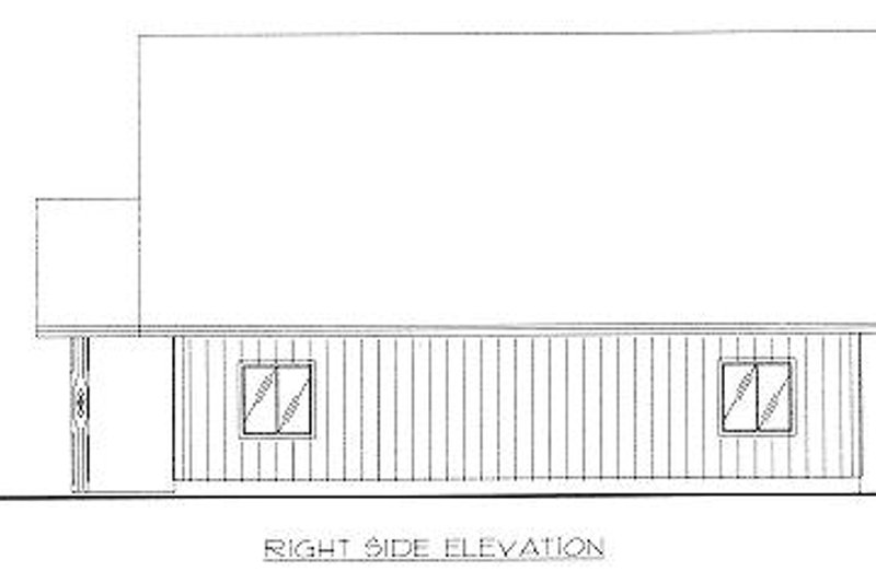Traditional Exterior - Other Elevation Plan #117-551 - Houseplans.com