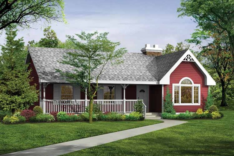 House Blueprint - Country Exterior - Front Elevation Plan #47-699
