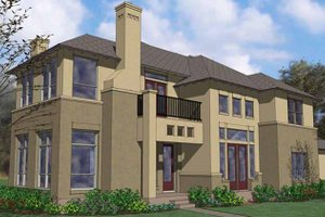 House Plan Design - Mediterranean Exterior - Front Elevation Plan #120-225