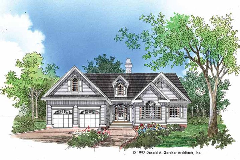 Traditional Exterior - Front Elevation Plan #929-363 - Houseplans.com