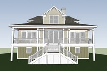 Country Exterior - Rear Elevation Plan #991-31