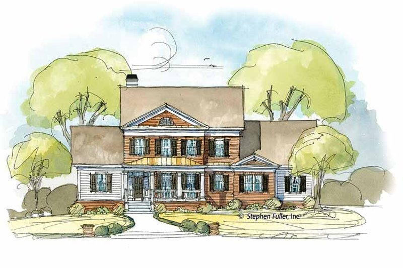Colonial Exterior - Front Elevation Plan #429-401 - Houseplans.com