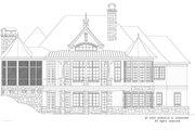 European Style House Plan - 5 Beds 5 Baths 4357 Sq/Ft Plan #929-893 Exterior - Rear Elevation
