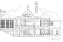 European Exterior - Rear Elevation Plan #929-893