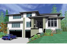 Prairie Exterior - Front Elevation Plan #509-420