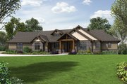 Craftsman Style House Plan - 3 Beds 2.5 Baths 3163 Sq/Ft Plan #48-688 Exterior - Front Elevation