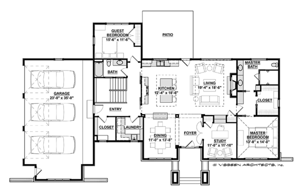 Prairie Floor Plan - Main Floor Plan Plan #928-279