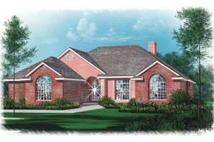 Traditional Exterior - Front Elevation Plan #15-317