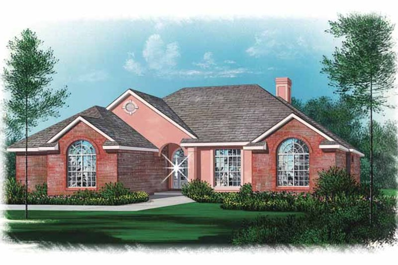Architectural House Design - Traditional Exterior - Front Elevation Plan #15-317