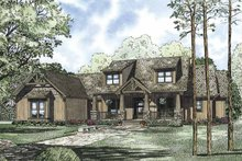 Dream House Plan - Craftsman Exterior - Front Elevation Plan #17-3322