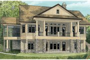 Craftsman Style House Plan - 4 Beds 4 Baths 3014 Sq/Ft Plan #929-937 Exterior - Rear Elevation