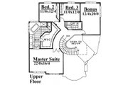 Contemporary Style House Plan - 4 Beds 2.5 Baths 3850 Sq/Ft Plan #509-50 Floor Plan - Upper Floor