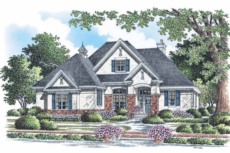 European Exterior - Front Elevation Plan #929-883