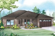 Ranch Style House Plan - 3 Beds 2 Baths 1859 Sq/Ft Plan #124-929 Exterior - Front Elevation
