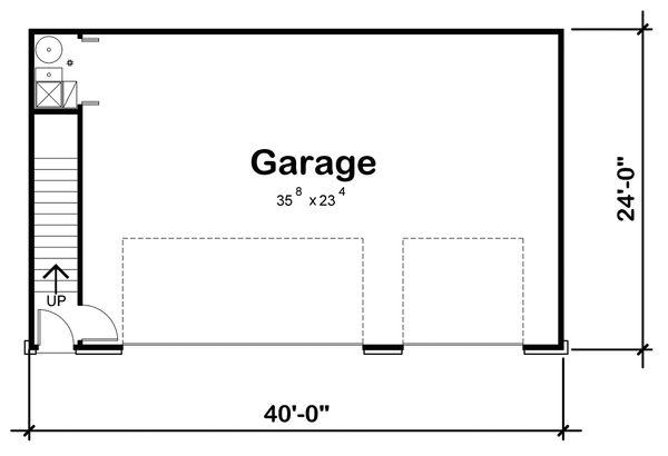 Traditional Floor Plan - Main Floor Plan Plan #20-2310