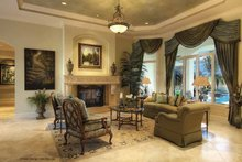 Mediterranean Interior - Family Room Plan #930-421