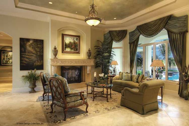 Mediterranean Interior - Family Room Plan #930-421 - Houseplans.com