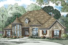 European Exterior - Front Elevation Plan #17-3386