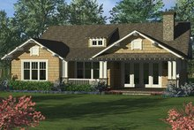 Architectural House Design - Craftsman Exterior - Rear Elevation Plan #453-623