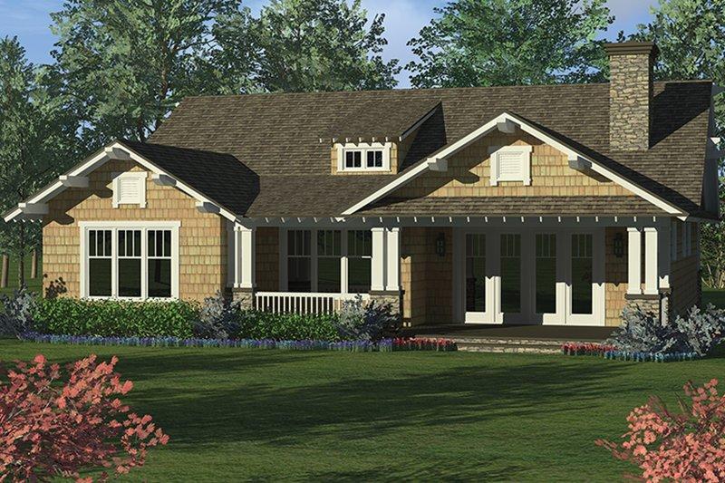 Craftsman Exterior - Rear Elevation Plan #453-623 - Houseplans.com