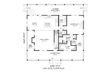 Country Floor Plan - Main Floor Plan Plan #932-43