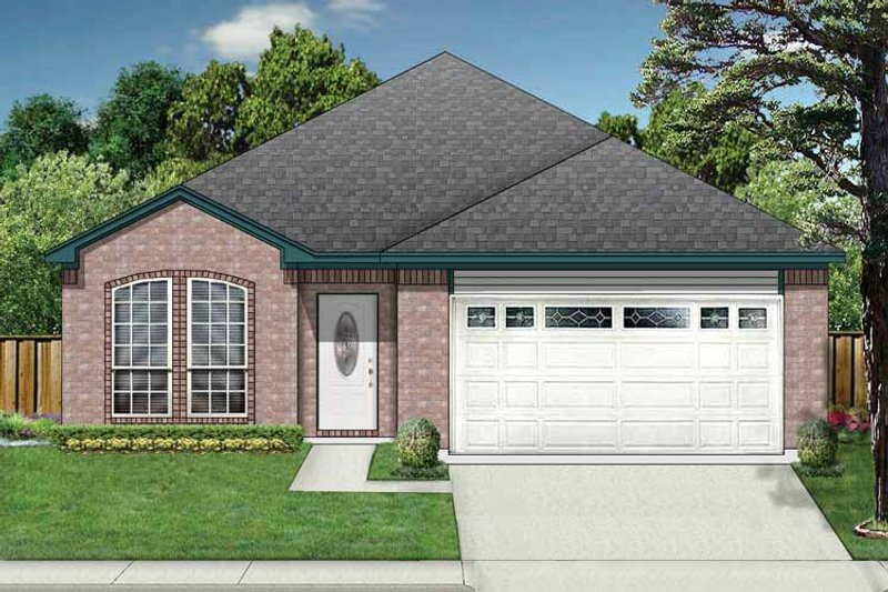 Traditional Exterior - Front Elevation Plan #84-674 - Houseplans.com