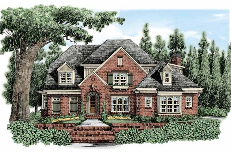 European Exterior - Front Elevation Plan #927-477
