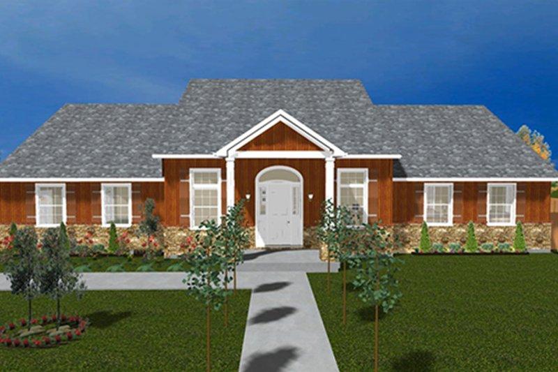 Ranch Exterior - Front Elevation Plan #1060-23 - Houseplans.com