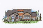 Country Style House Plan - 5 Beds 6 Baths 2648 Sq/Ft Plan #5-311 Exterior - Front Elevation