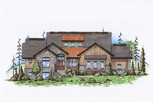 Country Exterior - Front Elevation Plan #5-311