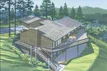 Dream House Plan - Contemporary Exterior - Front Elevation Plan #320-790