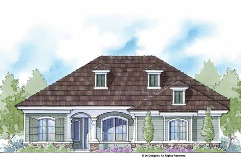 Country Exterior - Front Elevation Plan #938-41