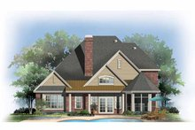 Dream House Plan - Traditional Exterior - Rear Elevation Plan #929-842